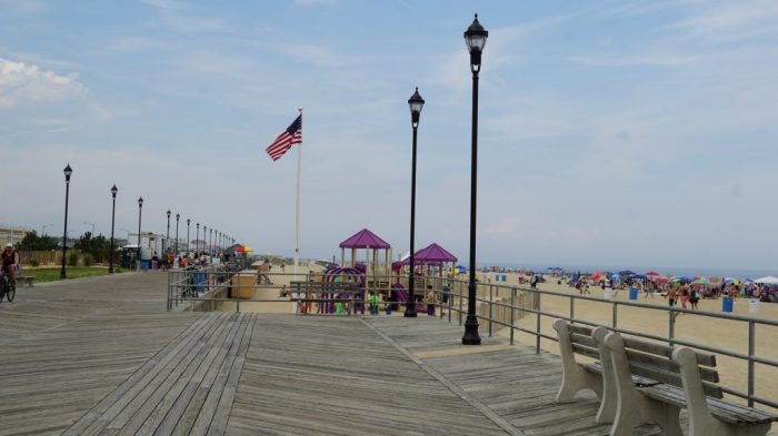Boardwalk at the beach at Asbury Park in New Jersey