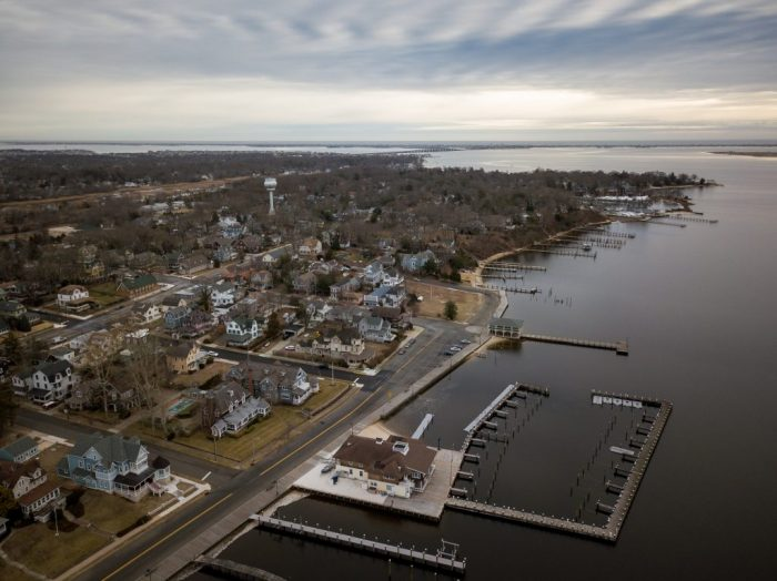 Aerial of Toms River New Jersey
